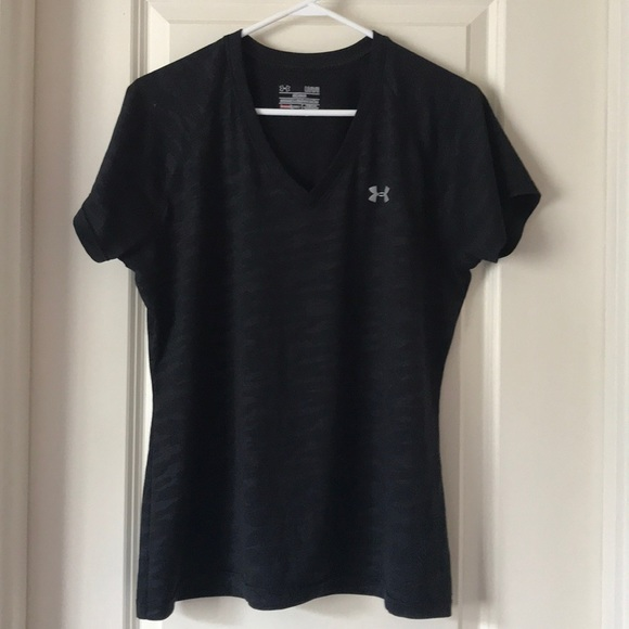 Under Armour Tops Black Semifit Womens Vneck Shirt Poshmark